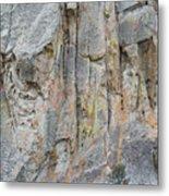 Elijah Weber Climbs A Route Called Thin Slice  Metal Print