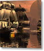 Eliminating The Pirates Metal Print by Claude McCoy