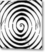 Eliptical Maze Metal Print