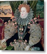 Elizabeth I Armada Portrait Metal Print