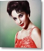Elizabeth Taylor, Vintage Movie Star Metal Print