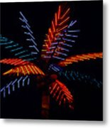 Ellas Neon Palm Metal Print