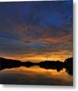 Ellenton Lake Sunset 01 Metal Print