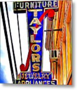 Ellicott City Taylor's Sign Metal Print