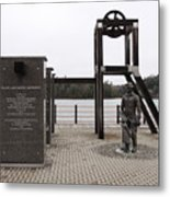 Elliot Lake Mining Monument Metal Print