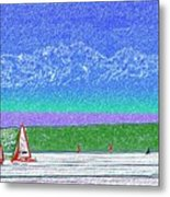 Elliott Bay Sail Metal Print