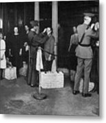Ellis Island: Examination Metal Print
