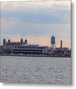 Ellis Island Panorama Metal Print