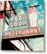 Elliston Place Soda Shoppe - Square Crop Metal Print by Amy Tyler