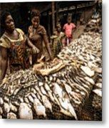 Elmina Fish Sellers Metal Print