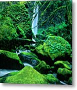 Elowah Falls 4 Columbia River Gorge National Scenic Area Oregon Metal Print