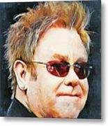 Elton john classic portrait Metal Print