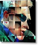 Elton John in Cubes 1 Metal Print