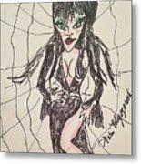 Elvira Mistress Of The Dark Metal Print