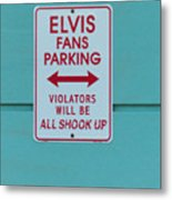 Elvis Fans Parking Metal Print