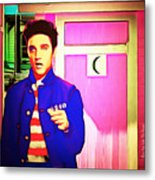 Elvis Has Left The House 20151225 Square Metal Print