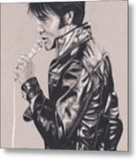 Elvis In Charcoal #177, No Title Metal Print