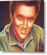 Elvis In Color Metal Print by Anastasis  Anastasi