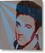 Elvis Pop Art Poster Metal Print