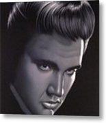 Elvis Presley Portrait Metal Print