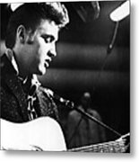 Elvis Presley, Recording In The Studio Metal Print by Everett