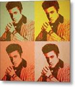 Elvis Retro Pop Art Metal Print