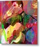 Elvis Rockabilly  Metal Print by David Lloyd Glover