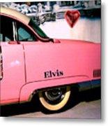 Elvis's Pink Cadillac Metal Print