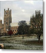 Ely Cambridgeshire, Uk.  Ely Cathedral  Metal Print