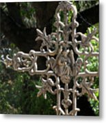 Embellished Cross Metal Print