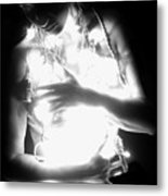 Embracing Light - Self Portrait Metal Print