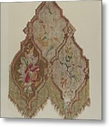 Embroidered Table Scarf Metal Print