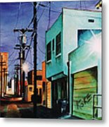 Emerald Alley Metal Print
