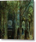 Emerald Arches Metal Print