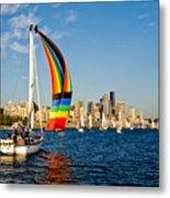Emerald City Sail Metal Print