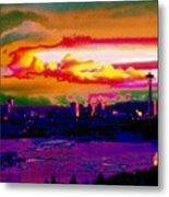 Emerald City Sunset Metal Print