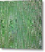 Emerald Green - Abstract Art Metal Print