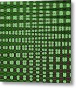 Emerald Green And Oak Stump Abstract Metal Print