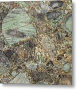 Emerald Green Granite Metal Print
