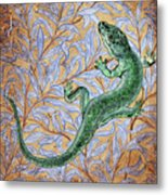 Emerald Lizard Metal Print