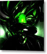 Emerald Nigthmares Abstract Metal Print