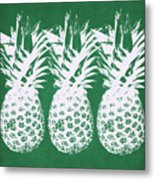 Emerald Pineapples- Art By Linda Woods Metal Print