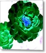 Emerald Rose Metal Print