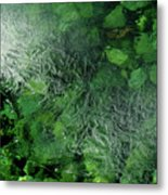 Emeralds Under Ice Metal Print