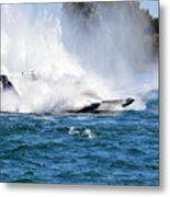 Emerging  From The Spray Metal Print