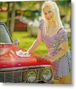 Emily #2 Royal Holden Metal Print