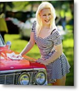 Emily #3 Royal Holden Metal Print