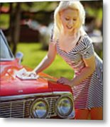 Emily #4 Royal Holden Metal Print