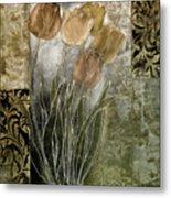Emily Damask Tulips II Metal Print