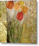 Emily Damask Tulips IIi Metal Print